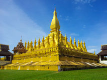 Pha That Luang in Vientiane Laos Stock Images
