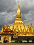 Pha That Luang in Vientiane Stock Photos