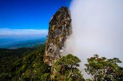 Pha Ngaem, falaise de deux saisons. image stock