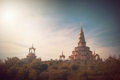 Pha Pha dolt exponeringsglas (Wat Pha Kaew) Royaltyfri Foto