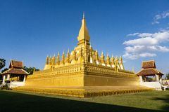 Pha que Luang Vientián, Laos fotografía de archivo libre de regalías