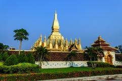 Pha que Luang, Vientiane, Laos Imagem de Stock Royalty Free