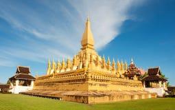 Pha que monumento de Luang, Vientiane, Laos. imagem de stock