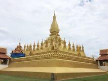 Pha quel punto di riferimento Laos Vientiane di Luang Fotografia Stock Libera da Diritti