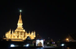 Pha quel tempiale di Luang Immagini Stock Libere da Diritti