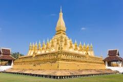 Pha qui Luang, Laos Images libres de droits