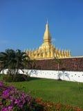 Pha qui stupa de Luang à Vientiane, Laos Photographie stock libre de droits