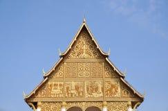 Pha qui temple de Luang, point de repère du Laos Image libre de droits