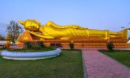 Pha som Luang, stora Stupa i Vientine, Laos Royaltyfri Fotografi