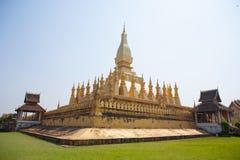 Pha som Luang stupa i Vientiane, Laos Arkivbild