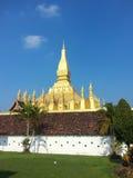 Pha som Luang stupa i Vientiane, Laos Royaltyfri Bild
