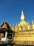 Pha som Luang stupa i Vientiane, Laos Arkivbilder