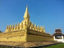 Pha som Luang stupa i Vientiane, Laos Royaltyfria Bilder