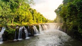 Pha Suam vattenfall, Paksa Fotografering för Bildbyråer