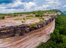 Pha Taem Cliff national park. Aerial photography Pha Taem national park along the Mekong river in Ubon Ratchathani province of Isan Thailand Royalty Free Stock Photos