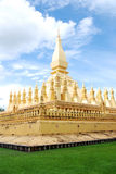 Pha Thatluang, Golden Stupa. Thatluang or Golden stupa is a symbol of Lao P.D.R Stock Photography