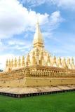 Pha Thatluang, Stupa dorato Fotografia Stock