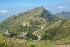 Pha Tung Mountain, Chiang Rai, Thailand Arkivfoto