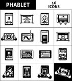 Phablet Black White Icons Set Royalty Free Stock Image