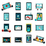 Phablet Icons Set Royalty Free Stock Photography