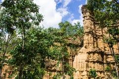 Phachor in Doi Lo Chiangmai, Groot Thais Canion Nationaal Park, Royalty-vrije Stock Afbeelding