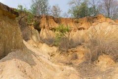 Phae Muang Phi Forest Park, erosión de la piedra arenisca en Tailandia foto de archivo libre de regalías