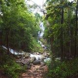 Phaeng Noi瀑布,酸值Phangan,泰国 库存图片