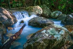 Phaeng Waterfalls with Tree Koh Phangan stock photo