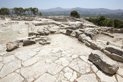 Phaestos minoan palatial city ruins in Crete. Greece Stock Images