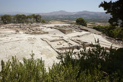 Phaestos minoan palatial city ruins in Crete. Greece Royalty Free Stock Photography
