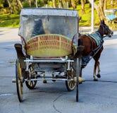 Phaeton. Horse carriage. Phaeton, Horse carriage. The symbol of the horse transportation is the transportation vehicle phaetons Royalty Free Stock Image