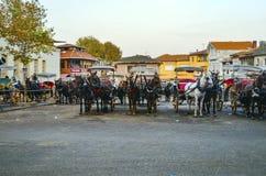 Phaeton Horse Passenger waiting area Stock Images