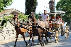Phaeton Trip, Buyukada in istanbul Turkey Royalty Free Stock Image