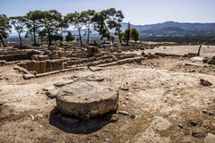 Phaistos宫殿 免版税库存图片