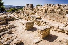 Phaistos宫殿 免版税库存照片