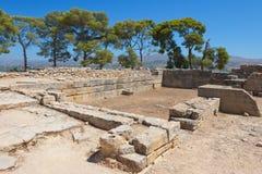 Phaistos宫殿。 克利特,希腊 库存照片