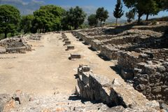Phaistos Agora horizontal Royalty Free Stock Images