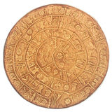Phaistos disc. An artefact discovered at the minoan site of Phaistos, Crete - Greece Stock Photos
