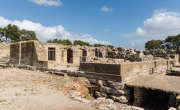 Phaistos houses Crete Royalty Free Stock Photos