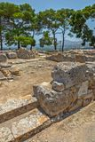 Phaistos pałac archeologiczny miejsce na Crete Fotografia Royalty Free