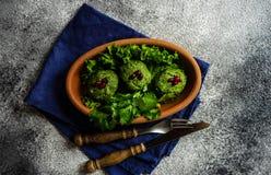 Phali georgiano tradicional del plato fotografía de archivo libre de regalías