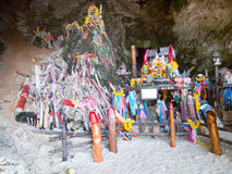 Phallus shrine at Railay Beach, Thailand Royalty Free Stock Photo