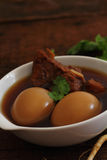 Phalo is food with eggs and pork. Stock Image