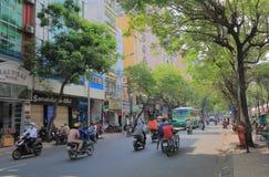 Pham Ngu Lao street cityscape Ho Chi Minh City Saigon Vietnam Stock Photography