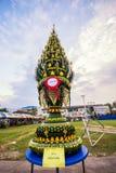 Phan Baisi, folha da banana para rituais em Tailândia fotos de stock royalty free