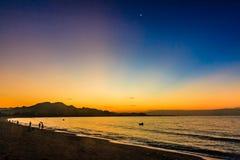 Phan belde het strand van Ninh Chu, Vietnam stock fotografie