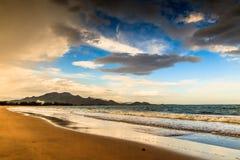 Phan belde het strand van Ninh Chu, Vietnam royalty-vrije stock foto's