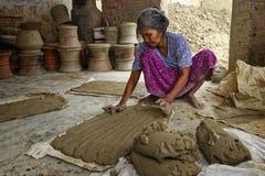 Phan Rang, VIETNAM, November, 2: woman of village pottery  Bau T Stock Photos