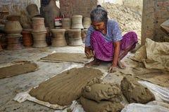 Phan Rang, VIETNAM, November, 2: woman of village pottery  Bau T Royalty Free Stock Photography