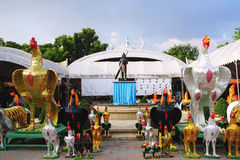 Phan Thai Norasing Shrine is regarded as the symbol of honesty by the local people. Many visitors come here to worship and give of. Samutsakhon ,Thailand Royalty Free Stock Photo